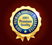 Golden Premium Quality Badge Stock Photos