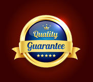 Golden Premium Quality Badge Royalty Free Stock Photos