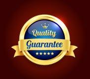 Golden Premium Quality Badge. Golden Premium high quality money back guarantee badge Royalty Free Stock Photos