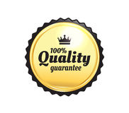 Golden Premium Quality Badge Royalty Free Stock Image