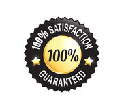 Golden Premium Quality Badge. Golden Premium high quality money back guarantee badge Stock Images