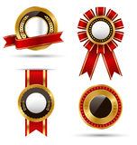 Golden Premium Quality Best Labels Collection  on White Stock Photography