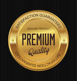 Golden Premium Quality Label Royalty Free Stock Photos