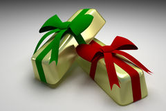 Golden present Royalty Free Stock Images