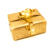 Golden Present Royalty Free Stock Image