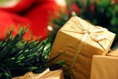 Golden present Stock Photography