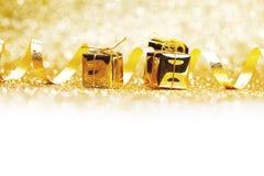 Golden presents Stock Image