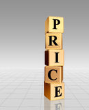 Golden price with reflection Royalty Free Stock Images