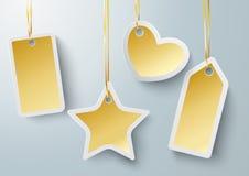 Golden Price Sticker Heart Star PiAd Royalty Free Stock Photo