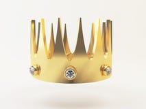 Golden, prize Wiedergabe 3D des Kronen-Preises Stockbilder