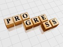 Golden progress Stock Photo