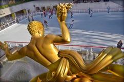 The golden Prometheus Royalty Free Stock Photo