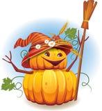 Golden pumpkin harvest royalty free illustration