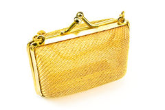 Golden purse Stock Photography