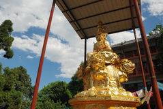 Golden Puxian Buddha Royalty Free Stock Photos