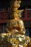 Golden Puxian Buddha Stock Photo