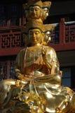 Golden Puxian Buddha Stock Photo