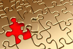 Golden puzzle Stock Image