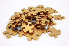 Golden puzzle Stock Photography