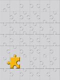 Golden puzzle Royalty Free Stock Images