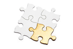 Golden Puzzle Royalty Free Stock Photography