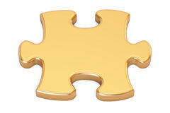 Golden puzzle closeup, 3D rendering Royalty Free Stock Photography