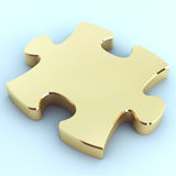 Golden puzzle Royalty Free Stock Photos