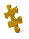 Golden puzzle piece Stock Image