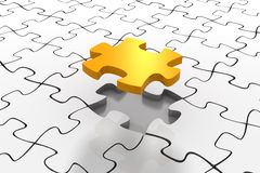Golden Puzzle Solution Royalty Free Stock Image