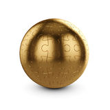 Golden puzzle sphere Royalty Free Stock Images