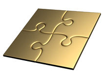 Golden puzzles Royalty Free Stock Photo