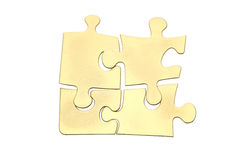Golden puzzles Stock Photo