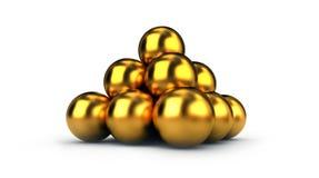 Golden Pyramid Royalty Free Stock Photography