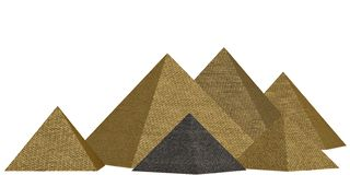 Golden pyramid isolated on white background 3D illustration. Golden pyramid isolated on white background 3D illustration vector illustration