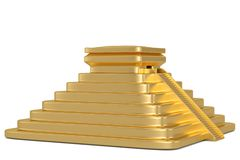 Golden pyramid isolated on white background 3D illustration. Golden pyramid isolated on white background 3D illustration royalty free illustration