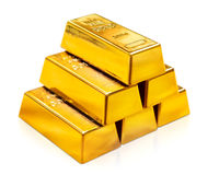 Golden pyramid Stock Photography