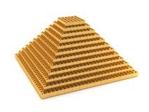 Golden pyramid. On a white background - 3D illustration vector illustration