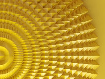 Golden pyramids Stock Image