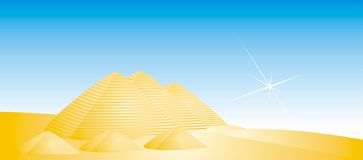 Golden pyramids Royalty Free Stock Image