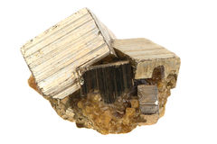 Golden pyrite mineral Stock Image