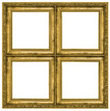 Golden quadruple frame Stock Photos