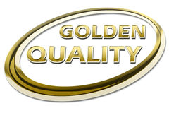 GOLDEN QUALITY Stock Images