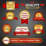 Golden quality labels set Royalty Free Stock Image