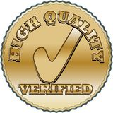Golden quality seal Stock Images