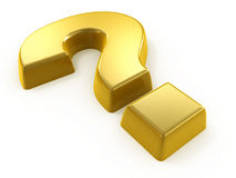 Golden question Stock Image