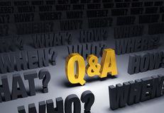 Golden Question And Answer Royalty Free Stock Images