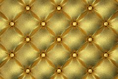 Golden quilted leather pattern Royalty Free Stock Photography