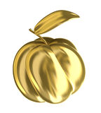 Golden quince apple. 3D image stock illustration
