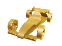 Golden race car curve Royalty Free Stock Image