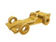 Golden race car curve Royalty Free Stock Photos